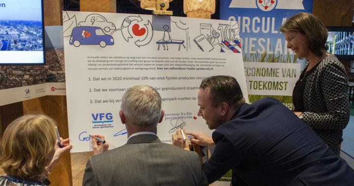 Friese overheden ondertekenen ambitiedocument Circulaire Economie