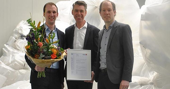 EPS Nederland krijgt eerste certificaat Prestatieladder Circulair van Kiwa