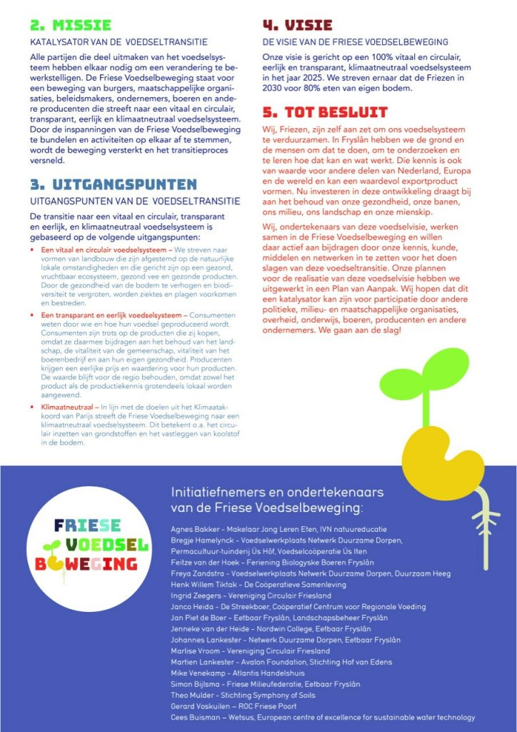 Voedselvisie van de Friese Voedselbeweging