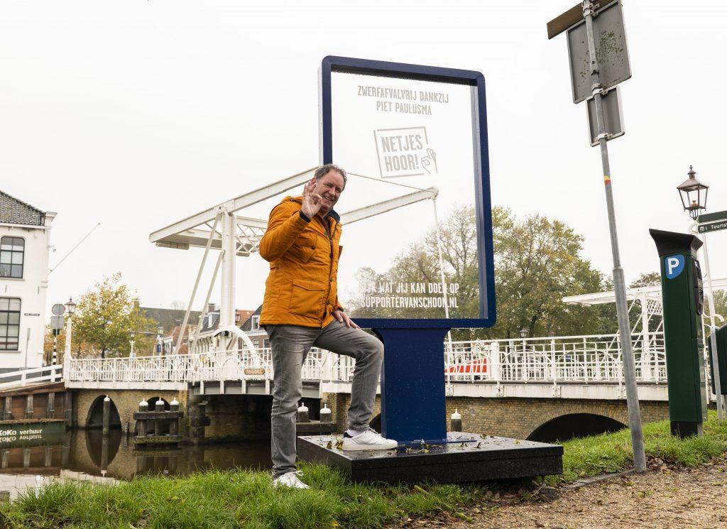 Supporter van Schoon Piet Paulusma - Foto: Bram Oostdijk