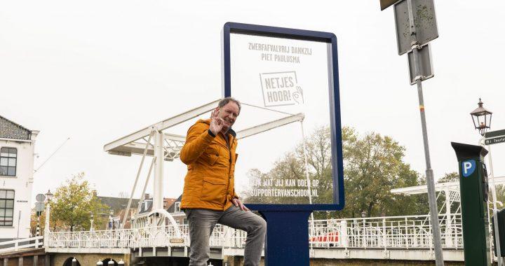 Piet Paulusma verrast met 100% schoongezicht midden in Harlingen