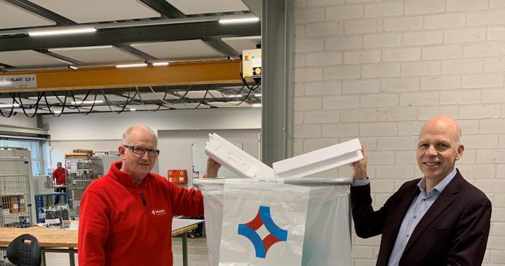 Heerenveense bedrijven recyclen piepschuim